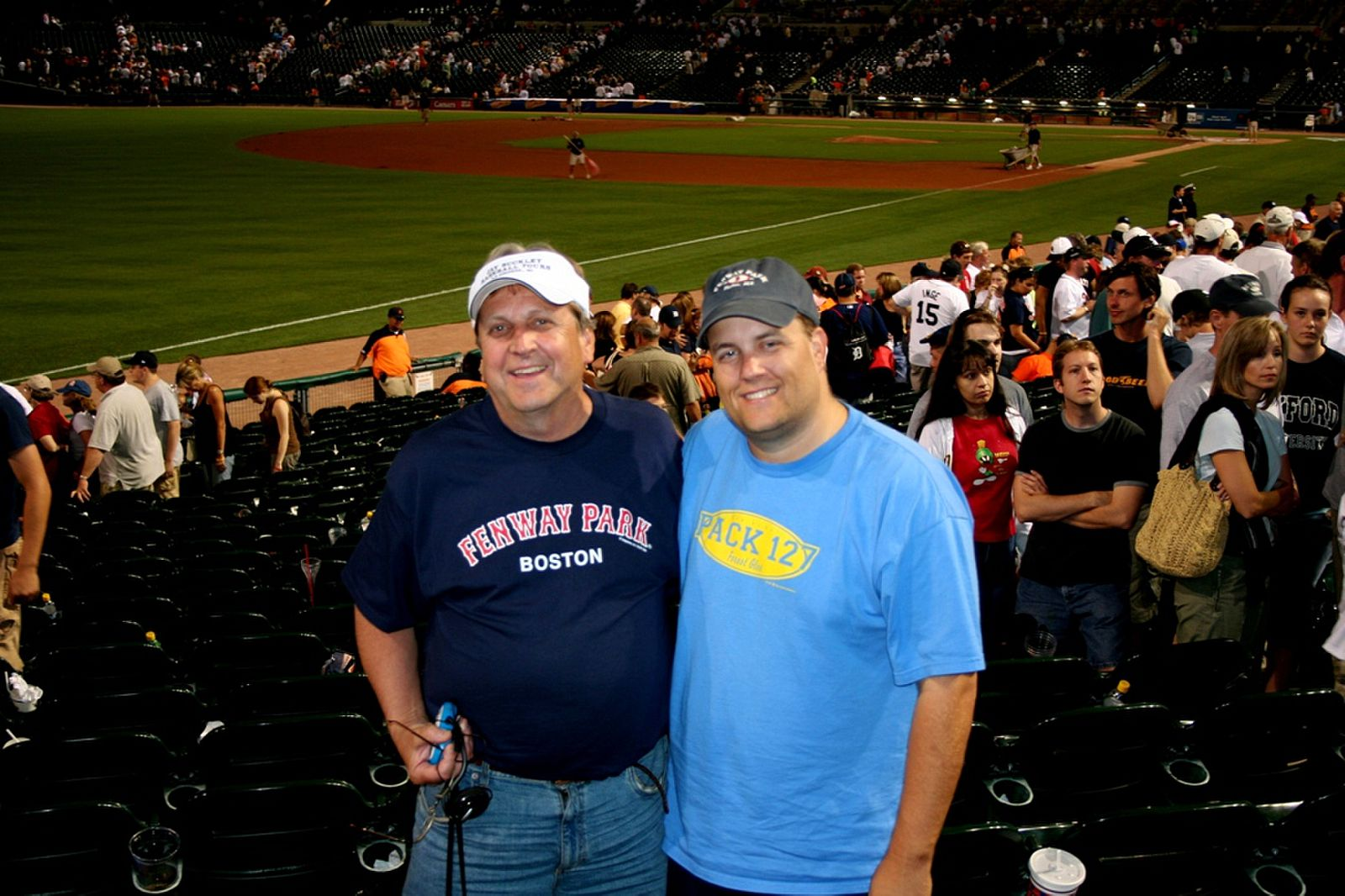 Dad and I at Comerica Park