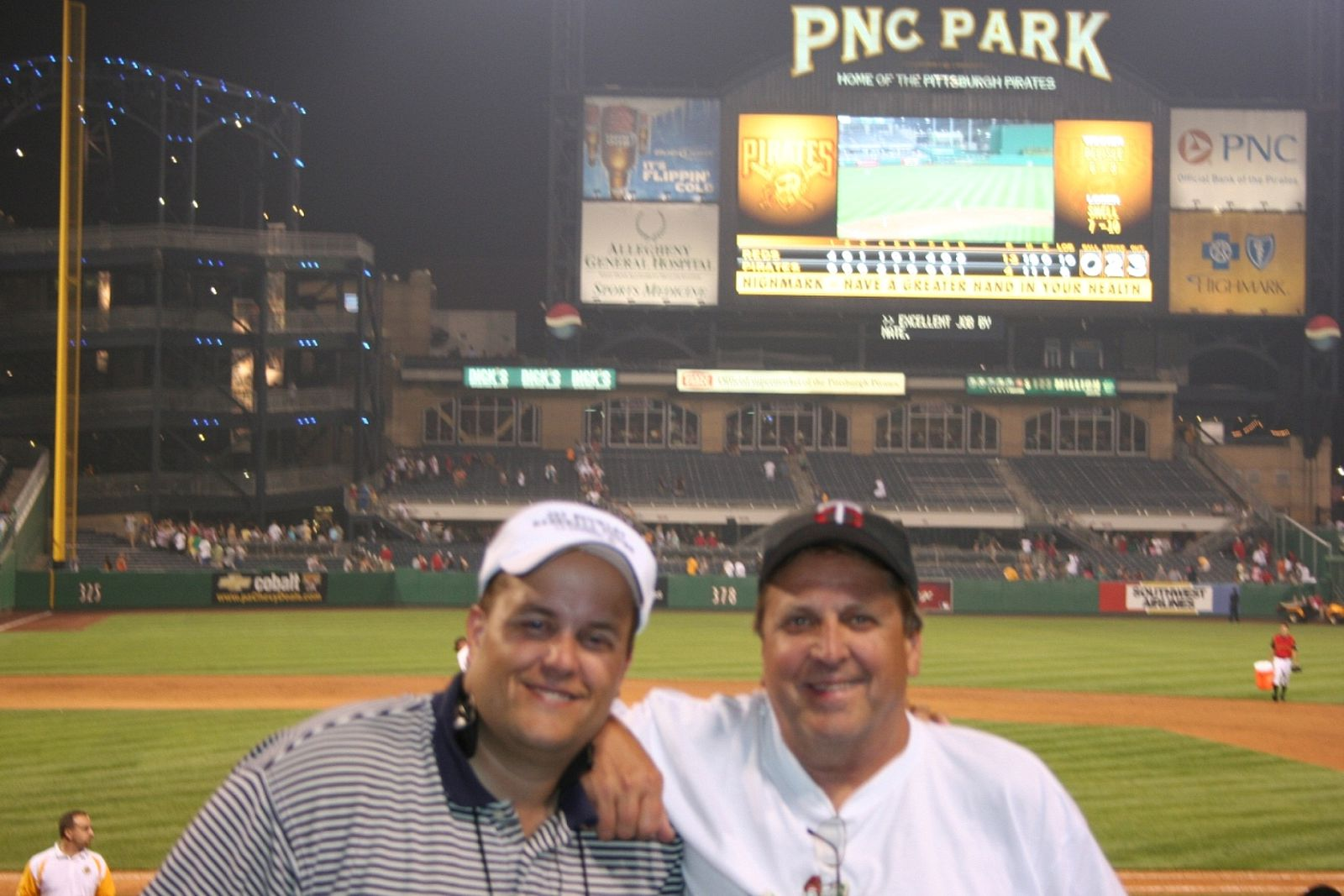 We had our best seats of the trip at PNC Park